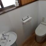 タイル貼りのトイレを改修